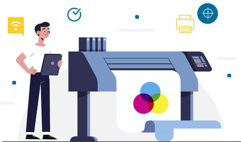 Impresora comunicación visual